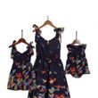 These Butterfly Print Bowknot Halter Mini Sundresses