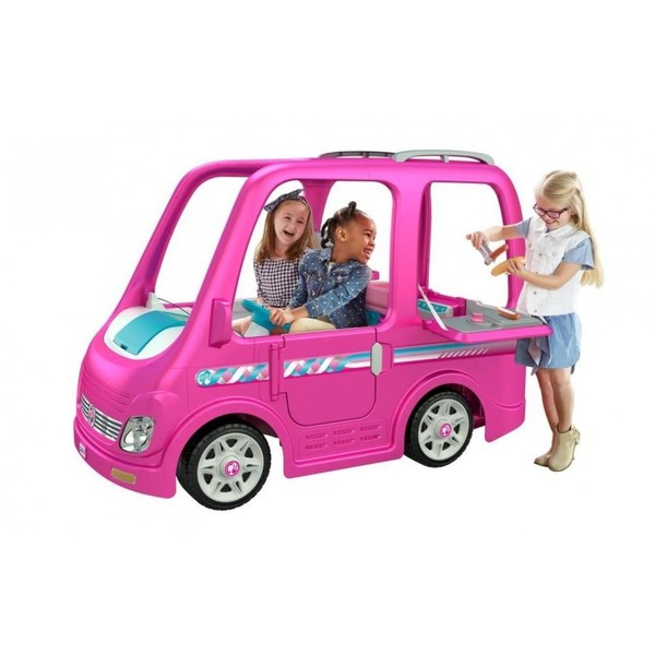 Power Wheels Barbie Dream Camper Ride-On Vehicle
