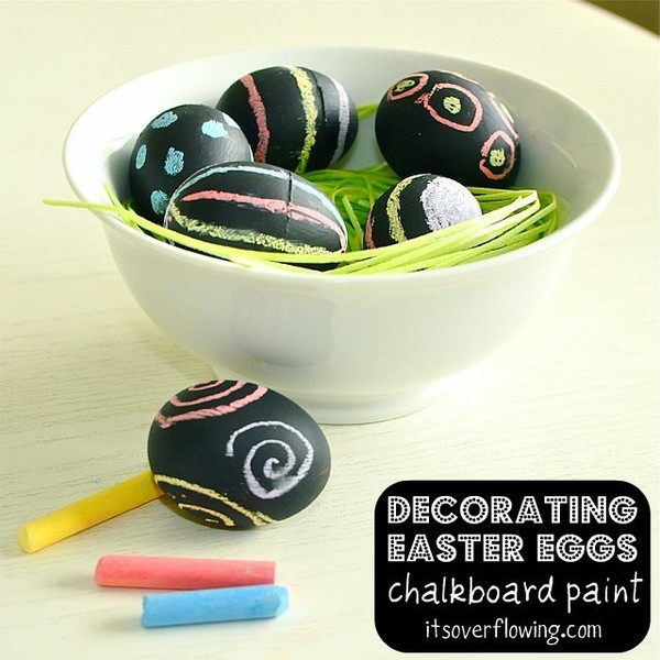 Chalkboard Paint Easter Eggs