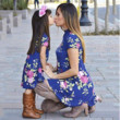 This To-Die-For Floral Short-Sleeved Hi-Low Dress