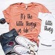 "This ""It's The Little Things"" Shirt Set"