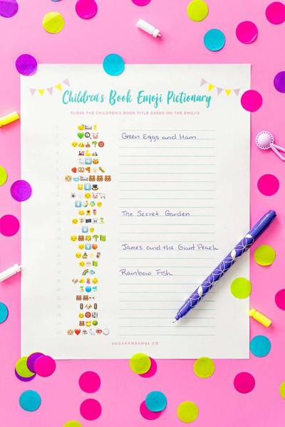 Emoji Pictionary Baby Shower Games You Ll Actually Want To Play