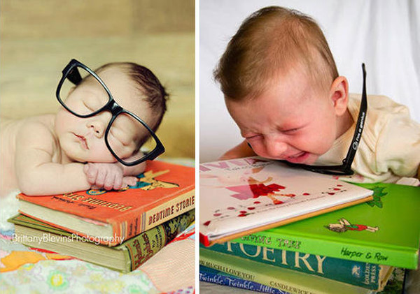 Reading Is...Fun - The Funniest Baby Photoshoot Fails Ever - Mabel + Moxie